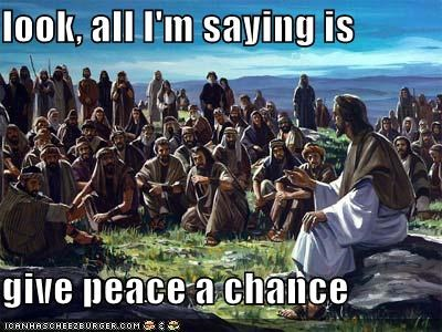 funny jesus peace religion - 4025956352
