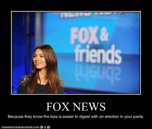 FOX NEWS Because they know the bias is easier to digest with an erection in your pants.