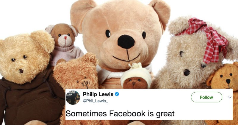 Mother's daughter takes a raunch picture of teddy bears positioned questionably at store, that went unnoticed by the staff.