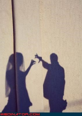 bride,bride and groom shadow puppets,cute wedding picture,fashion is my passion,funny wedding photos,groom,shadow puppet wedding,shadow puppets,were-in-love