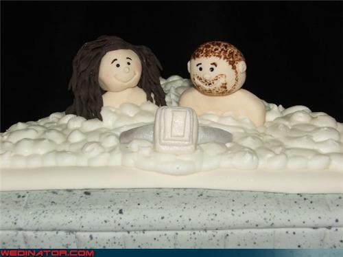 bride,confusing,confusing wedding cake,Dreamcake,eww,fimo clay,funny wedding photos,groom,hot tub wedding cake,unappetizing wedding cake,Wedding Themes,weirdest cake toppers ever,wtf