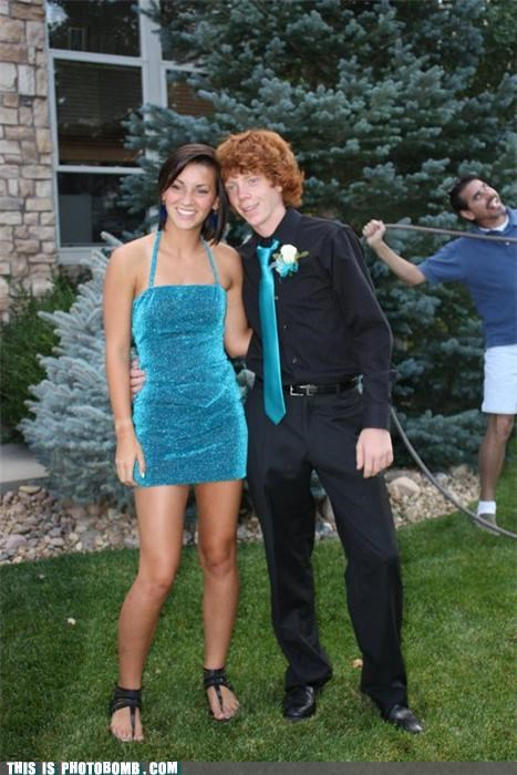 dad embarrassing family portrait formal ginger photobomb prom - 4030423552