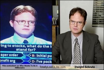 dwight schrute game show rainn wilson the office who wants to be a millionaire - 4030675456