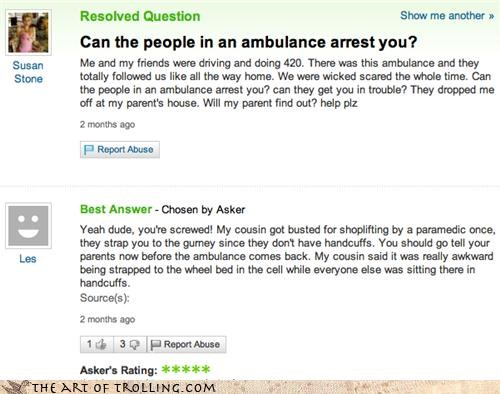 420 ambulance officer - 4031095040