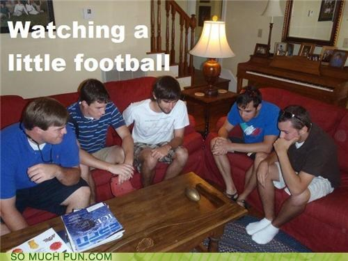 football,literalism,little,miniature,super bowl,toy,watching
