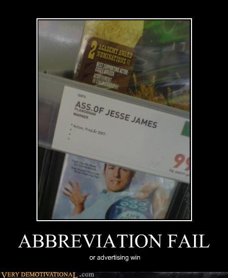 abbreviation ass DVD FAIL idiots language questions win - 4031527168