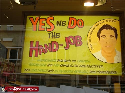 Germans do the hand-jobs.