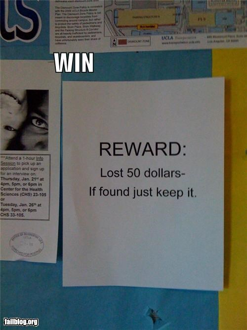 clever failboat g rated lost money poster reward win - 4032451840