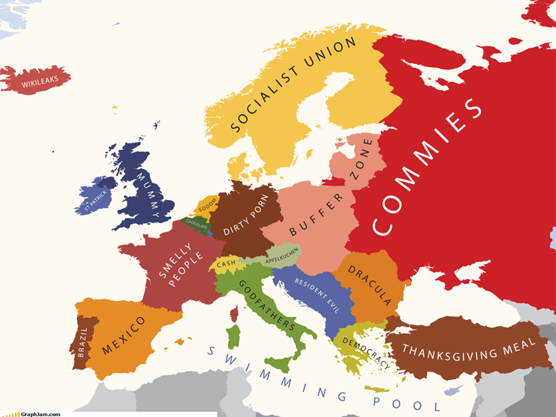 americans europe infographic map Maps