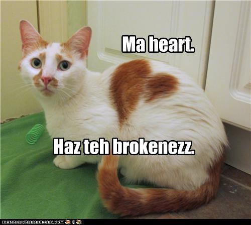 Ma heart. Haz teh brokenezz.