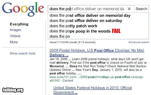 bathroom,failboat,google,g rated,mailmen,poop,search,the pope,woods