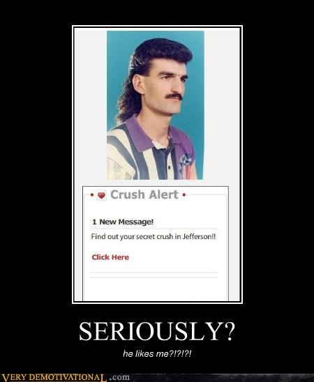 crushes dating mullet mustache romance spam Terrifying the internet