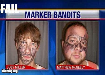 classic faces failboat g rated markers mask masks mug shots robbers television - 4033065216