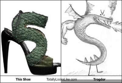 dragon,drawing,shoes,strong bad,trogdor