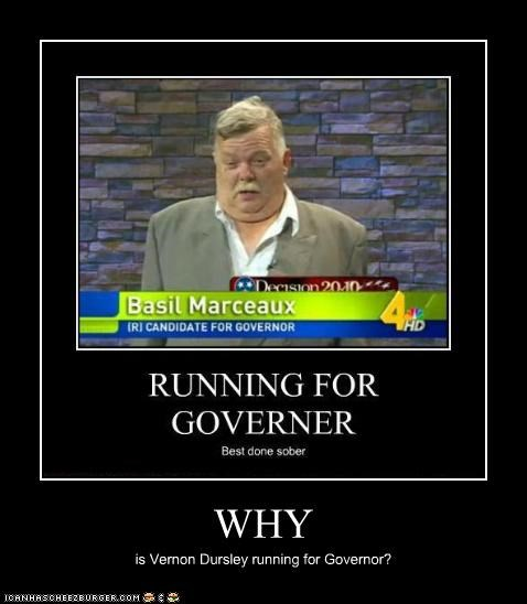 WHY is Vernon Dursley running for Governor?