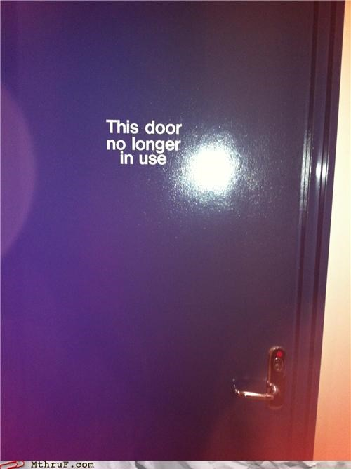 door,Evolve,inconvenience,signs,wall