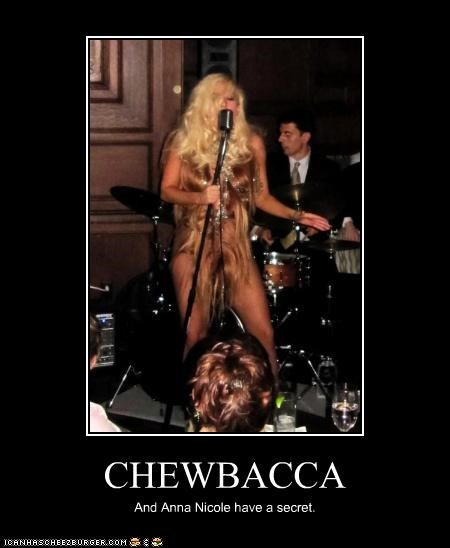 anna nicole smith,chewbacca,fashion,lady gaga,lolz,musician,sci fi,secret,star wars