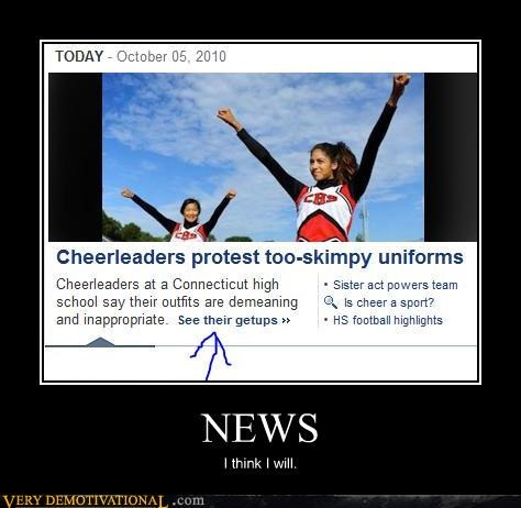 cheerleaders,idiots,news,pervs,sister act,the internet,wtf