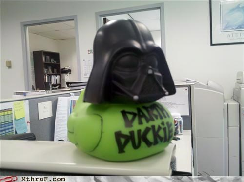 cubicle boredom,darth vader,rubber ducky,star wars
