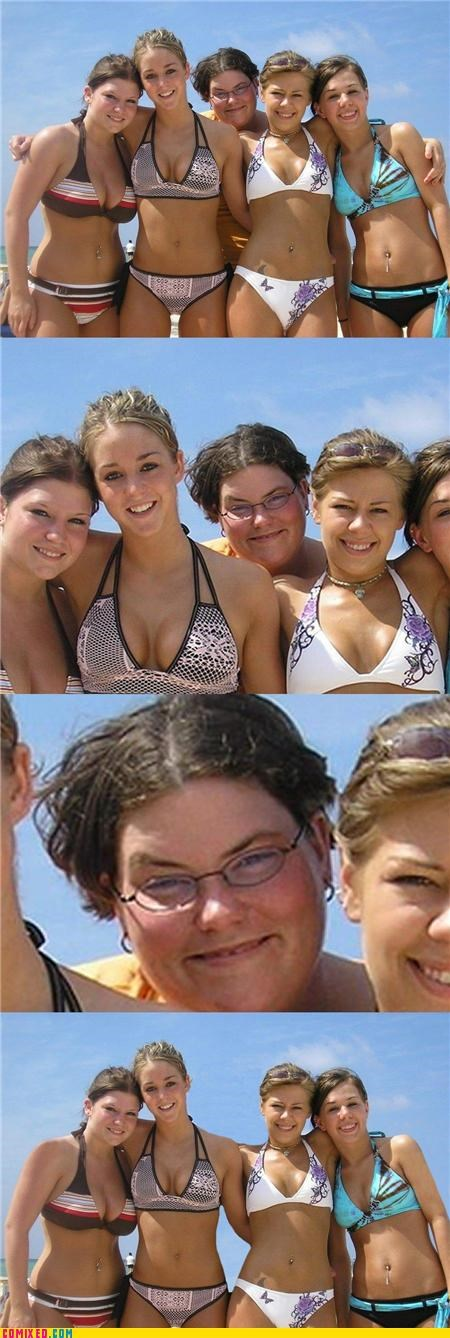 babes bikinis bubbling mean photobomb photoshop the internets - 4035254272
