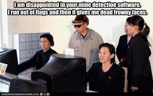 computer games disappointed frown Kim Jong-Il mine minecraft North Korea Sad