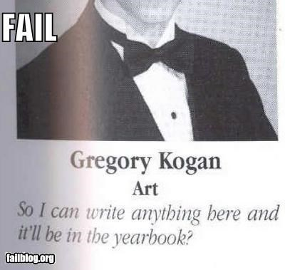 failboat,g rated,quotes,verbatim,yearbook