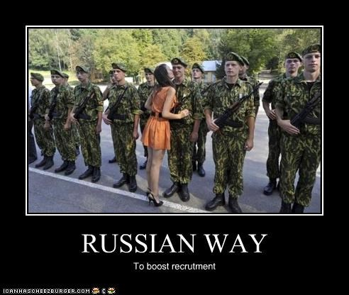 RUSSIAN WAY To boost recrutment