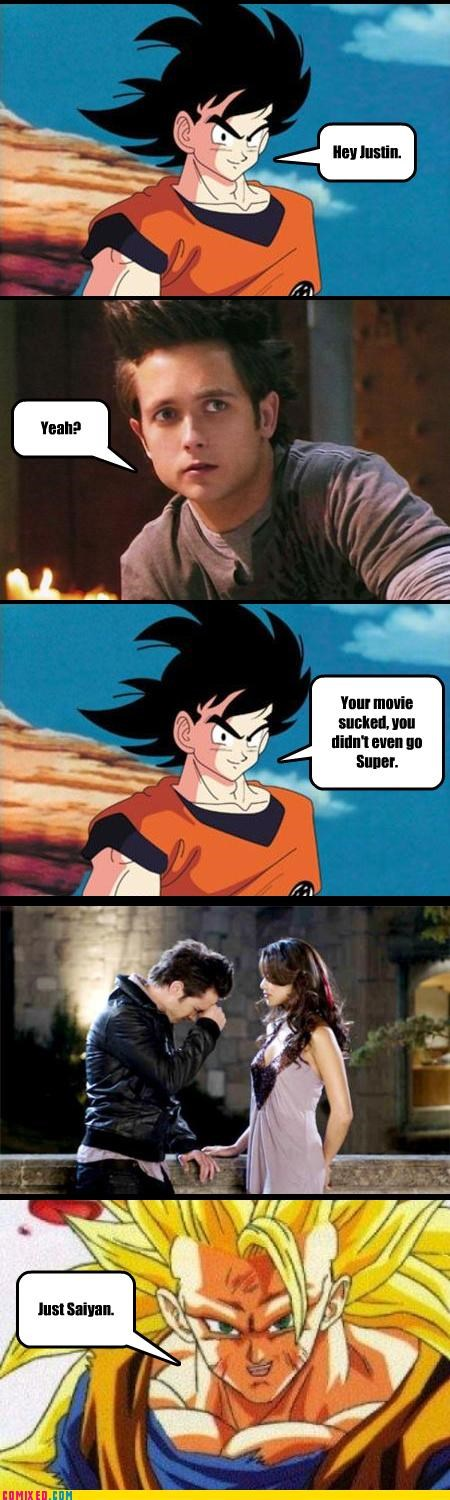 anime,bad movie,cartoons,Dragon Ball Z,From the Movies,Justin Chatwin,puns,Saiyan