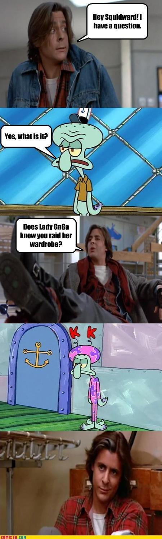 animals cartoons From the Movies Judd Nelson lady gaga Sponge Bob Squarepants Squidworth the breakfast club - 4036916224