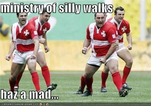 ministry of silly walks haz a mad...