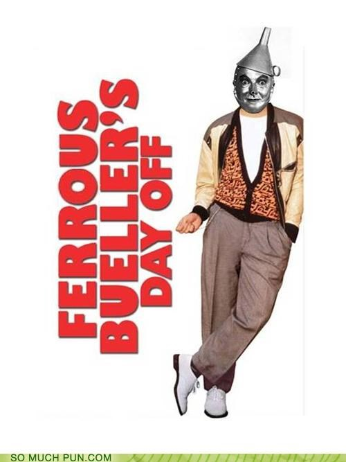classic comedic gold comparison famous ferris bueller ferrous Movie stannum tin tinman - 4037633536
