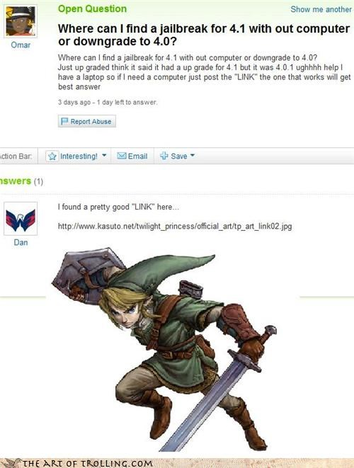 computer iphone jailbreak link master sword pretty good Yahoo Answer Fails - 4038068480
