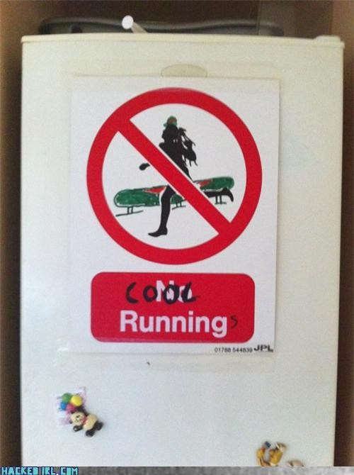 cool runnings,no running,pool,sign