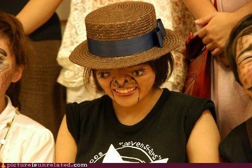 cheeks creepy face fans T.Shirt wtf - 4038156032