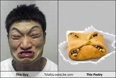 angry expression food guy pastry