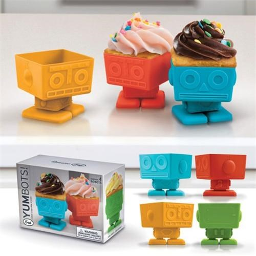 baking,baking cups,cooking,cupcakes,cute-kawaii-stuff,Kitchen Gadget,robots,Silicone,Square,sweets