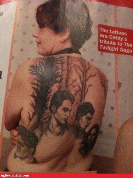 back pieces celeb Hall of Fame movies portraits twilight vampires
