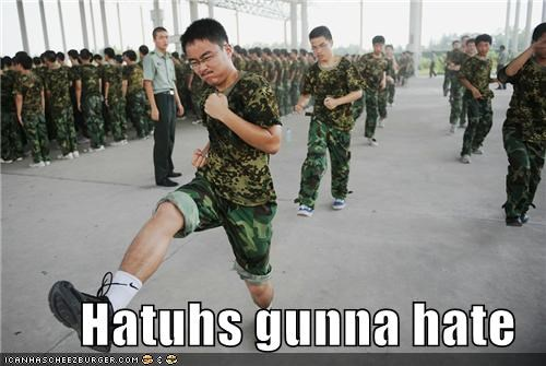asian,camouflage,dorky,haters,haters gonna hate,march,military,nerd