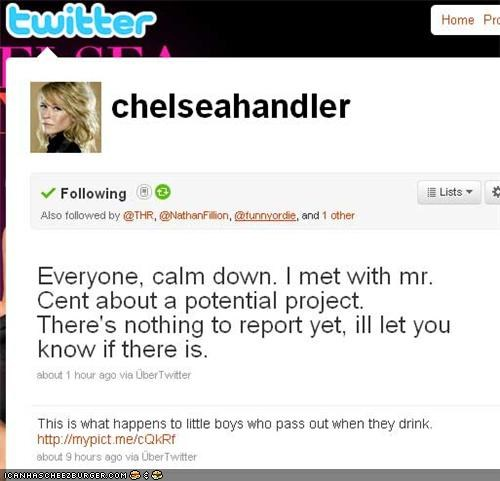 chelsea handler Fifty Cent max projects ROFlash twitter - 4039475712