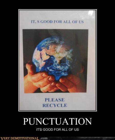 earth idiots punctuation recycling signs - 4039860736