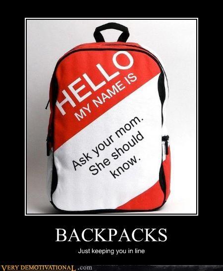backpacks hello hilarious mega diss mom jokes - 4040876032