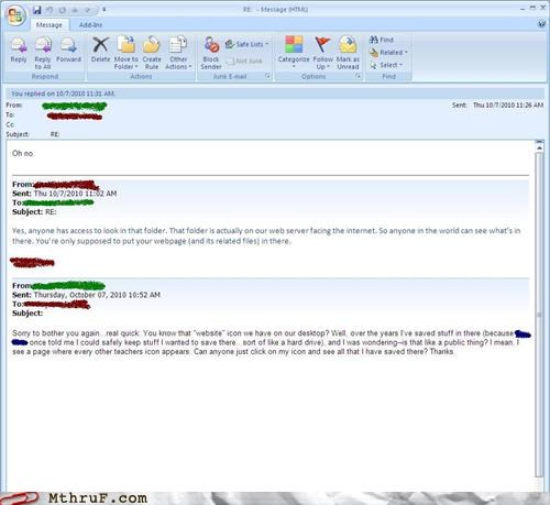 email FAIL oh no oops teacher - 4041042944