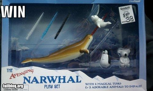 childrens-toy failboat g rated narwals toys win - 4041210112