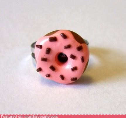 cravings donut icing Jewelry miniature ring sprinkles sweet tooth Teeny - 4041413632