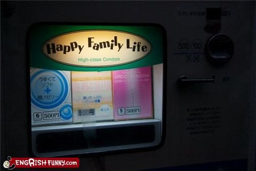 condoms,family,poorly worded,vending machine