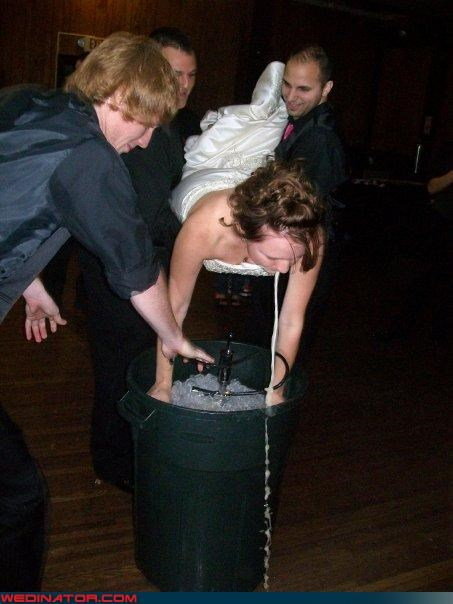 bride keg stand,Crazy Brides,funny bride keg stand,funny wedding photos,keg stand,surprise,technical difficulties,wedding keg,wedding party
