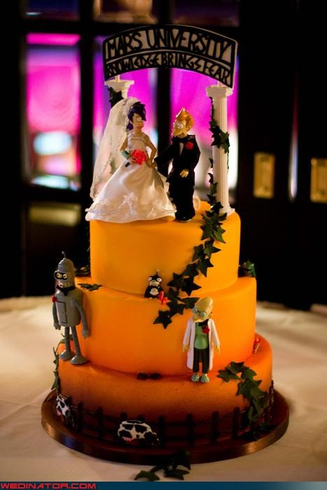 amazing Futurama wedding cake awesome wedding cake Dreamcake funny wedding photos Futurama cake Futurama themed wedding cake Sheer Awesomeness themed wedding cake Wedding Themes - 4042920192