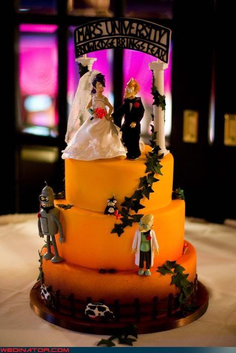 amazing Futurama wedding cake awesome wedding cake Dreamcake funny wedding photos Futurama cake Futurama themed wedding cake Sheer Awesomeness themed wedding cake Wedding Themes - 4042920192