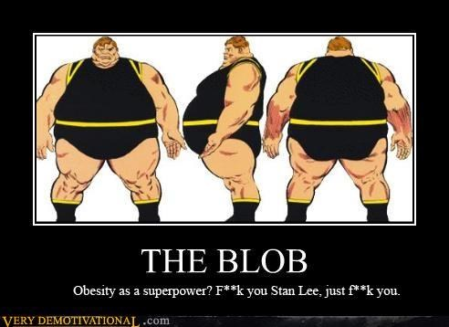 comic book guy,comics,marvel,mutants,obesity,profanity,Sad,stan lee,THE BLOB,x men