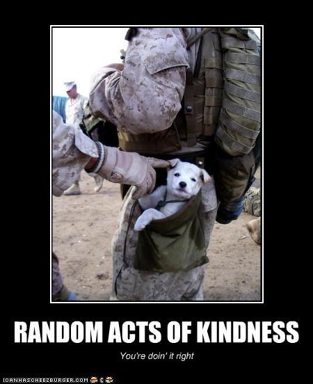 RANDOM ACTS OF KINDNESS You're doin' it right